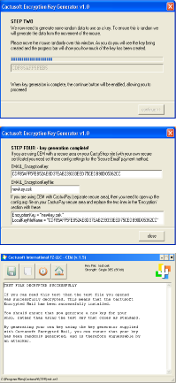 Cactusoft Encrypted Mail screenshots
